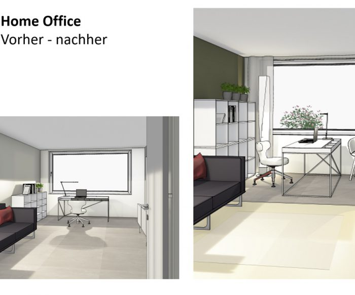 Home Office vorher-nachher